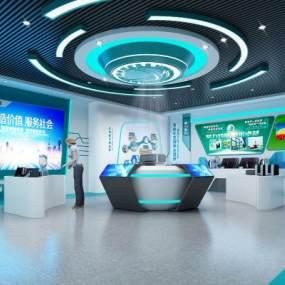 现代国家电网展厅3D模型【ID:945780795】