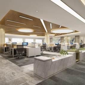 现代办公室3D模型【ID:949231044】