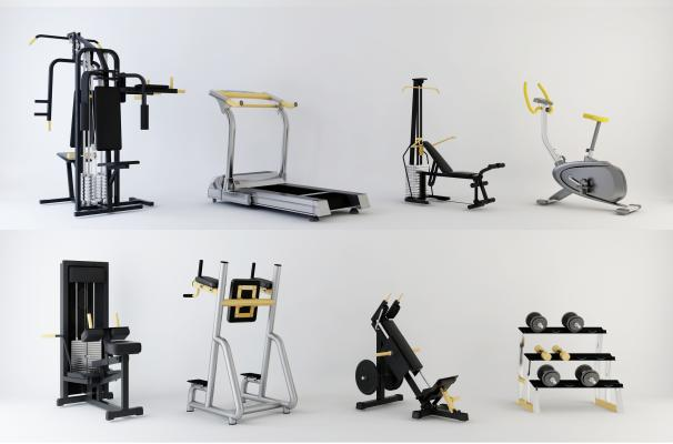 現代健身器材3D模型【ID:346323895】