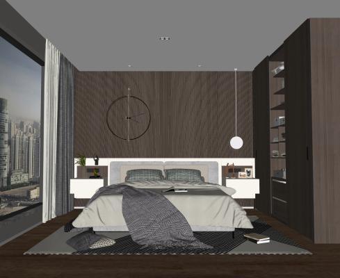 現代臥室SU模型【ID:247997891】