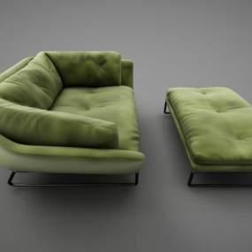 现代风格沙发3D模型【ID:648826724】