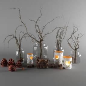 现代花瓶3D模型【ID:249246538】