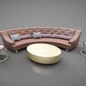 现代风格沙发3D模型【ID:647376799】