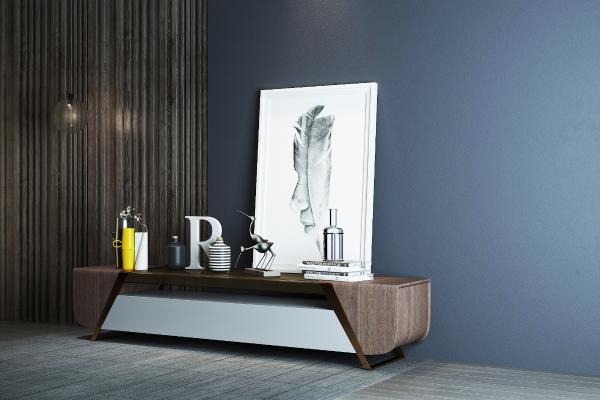 现代电视柜3D模型【ID:941306919】