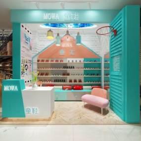 现代鞋店3D模型【ID:932950866】