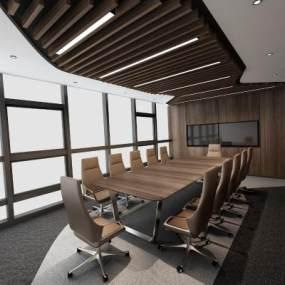 现代风格会议室3D模型【ID:943568169】