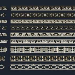 新中式镂空雕花花格组合3D模型【ID:333414428】