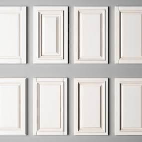 现代橱柜吊柜衣柜门板描金3D模型【ID:330548121】