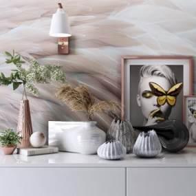 现代艺术壁纸3D模型【ID:345703607】