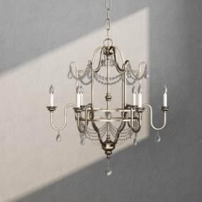 歐式吊燈3D模型【ID:747697870】