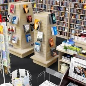現代書店配套3D模型【ID:950229843】