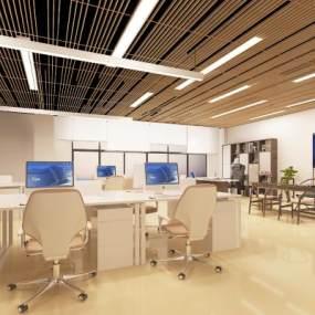 现代办公室3D模型【ID:953363081】