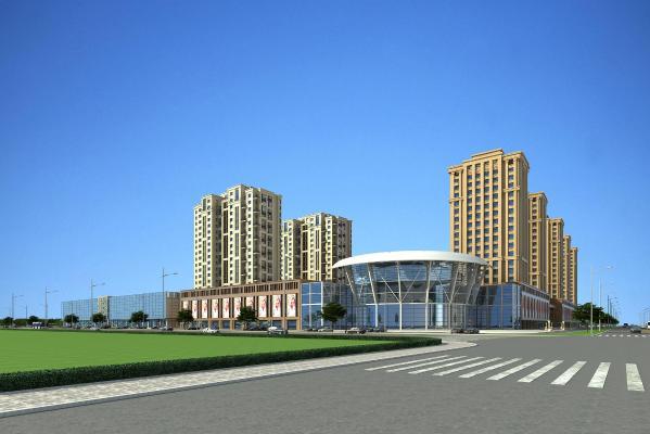 现代风格商业网点住宅3D模型【ID:145392714】