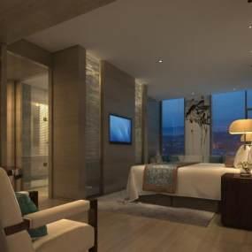 现代卧室 3D模型【ID:740842320】