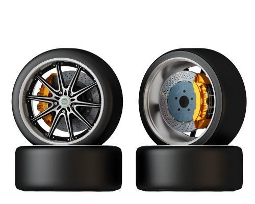 輪胎3D模型【ID:442351743】
