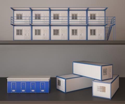 移动板房3D模型【ID:236156380】