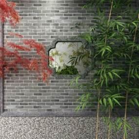 新中式竹子3D模型【ID:253377855】
