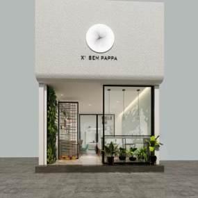 北欧奶茶店3D模型【ID:644106466】
