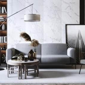 现代简约沙发3D模型【ID:652510713】