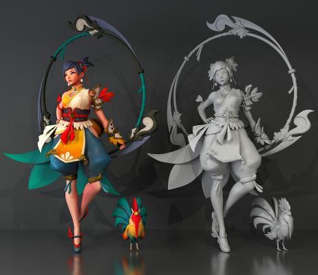游戲人物角色3D模型【ID:340584084】