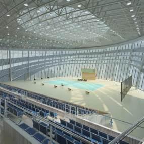 現代體育館網球賽場3D模型【ID:646575907】