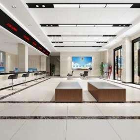 现代一层公安分局办事大厅3D模型【ID:952231210】