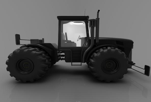 现代风格推土车3D模型【ID:443580732】