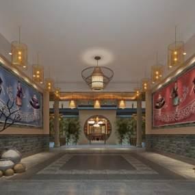 新中式酒店过道3D快三追号倍投计划表【ID:734808449】