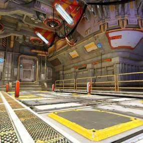 科幻船艙3D模型【ID:441651941】