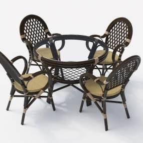 现代室外休闲桌椅3D模型【ID:832130923】