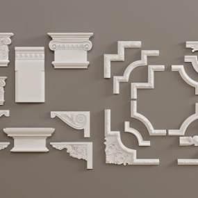 欧式石膏雕刻3D模型【ID:343518488】