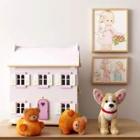 現代兒童玩具擺件3D模型【ID:242944591】