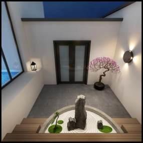 新中式庭院3D模型【ID:132748419】