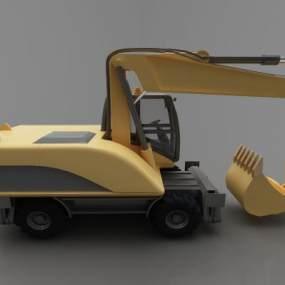 现代风格推土车3D模型【ID:443524604】