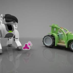 现代风格儿童玩具3D模型【ID:352886403】