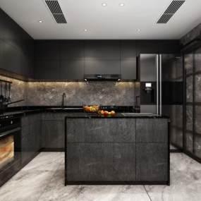 现代厨房 3D模型【ID:540671363】