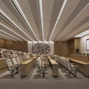 现代办公室会议室培训机构3D模型【ID:935928103】