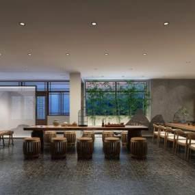 新中式茶室3D模型【ID:634787634】