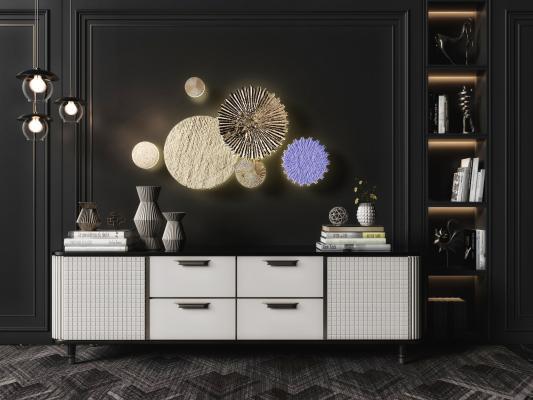 现代电视柜3D模型【ID:950361971】