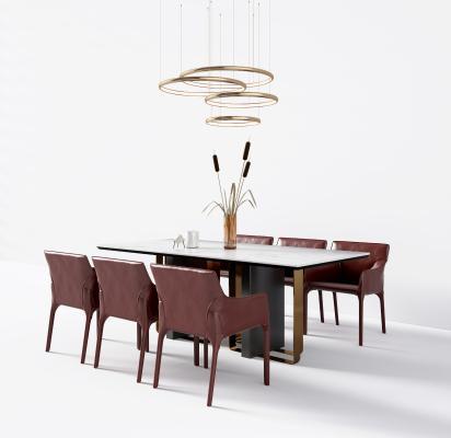 现代餐桌椅3D模型【ID:853935858】