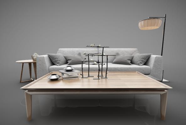 新中式风格沙发3D模型【ID:644311673】