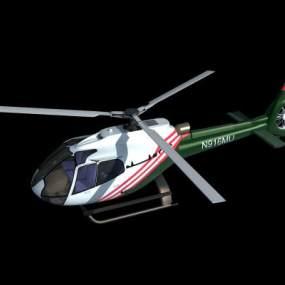 现代民用直升机3D模型【ID:432496925】