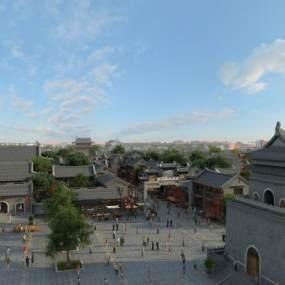 中式商业街古建3D模型【ID:231937197】