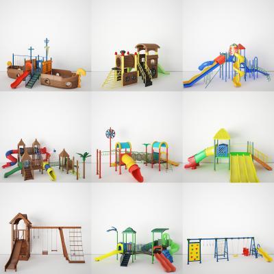 現代兒童娛樂設施3D模型【ID:450243181】