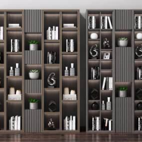 现代书柜3D模型【ID:150169509】