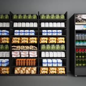 现代超市展架3D模型【ID:130685186】