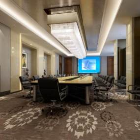 现代办公空间会议室 3D模型【ID:940820151】