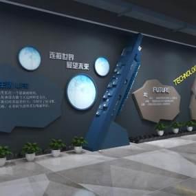 現代科技走廊3D模型【ID:947321601】