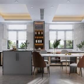 现代厨房3D模型【ID:544598376】