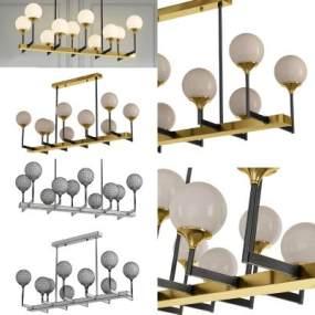 现代多头球形吊灯3D模型【ID:743455809】